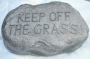 Keep off Grass Stone