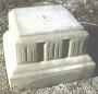 Lg. Square Fluted Pedestal